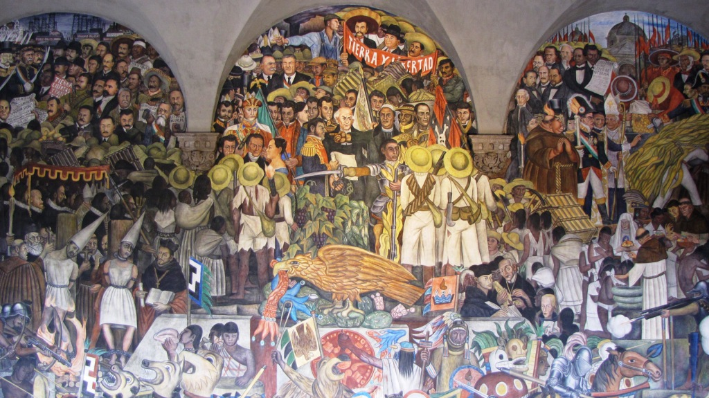 Dynamic drawing archive the detroit industry fresco for Diego rivera mural palacio nacional